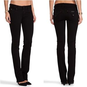 Hudson Mid Rise Pocket Flap Black Boot Cut Jeans